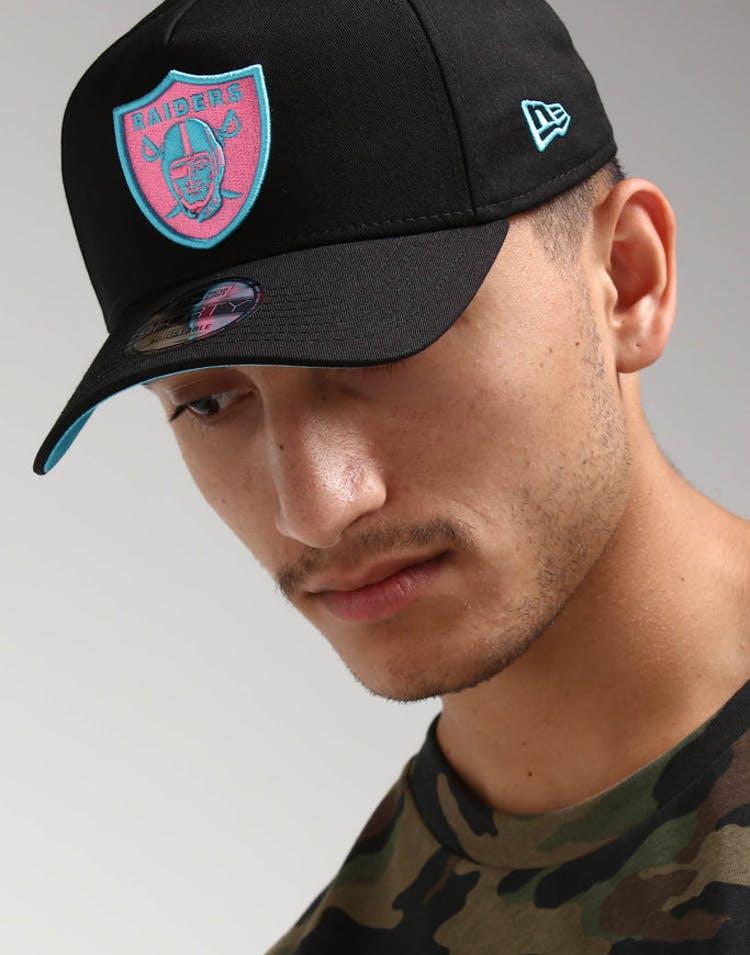 acc12b70a45 New Era Raiders 9FORTY A-Frame Snapback Black Pink Neon – Culture Kings
