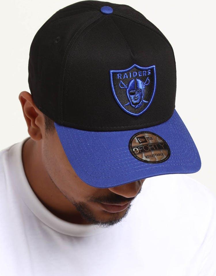 brand new 2934d 08b73 New Era Raiders 9FORTY A-Frame 2Tone Snapback Black Blue – Culture Kings
