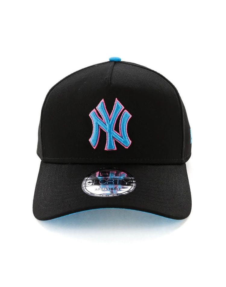 4c9e99dd202 New Era New York Yankees 9FORTY A-Frame Snapback Black Pink Neon ...