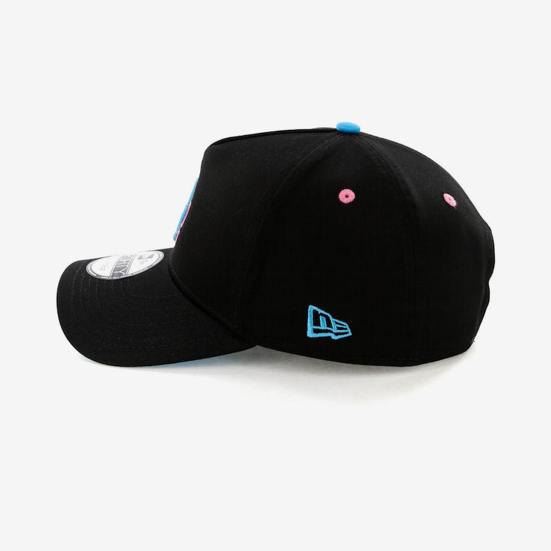 New Era Los Angeles Dodgers 9FORTY A-Frame Snapback Black/Pink Neon