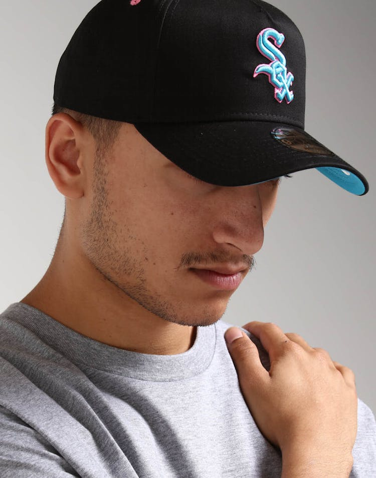 acf6abe0548 New Era Chicago White Sox 9FORTY A-Frame Snapback Black Pink Neon – Culture  Kings