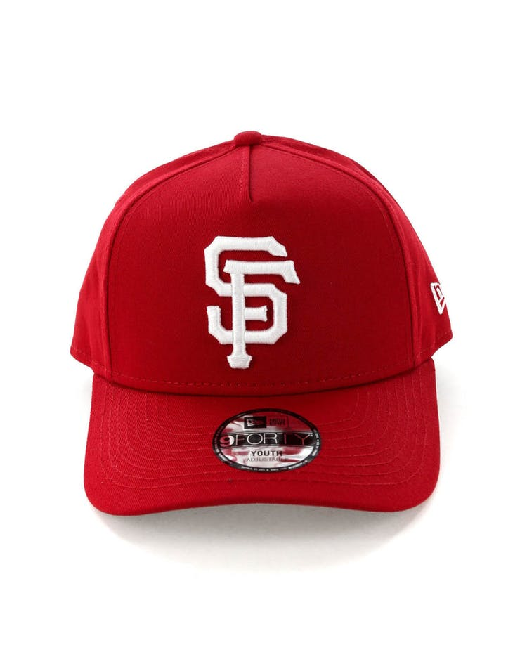 separation shoes 7bc45 4d80c New Era Youth San Francisco Giants CK 9FORTY A-Frame Snapback Scarlet  –  Culture Kings