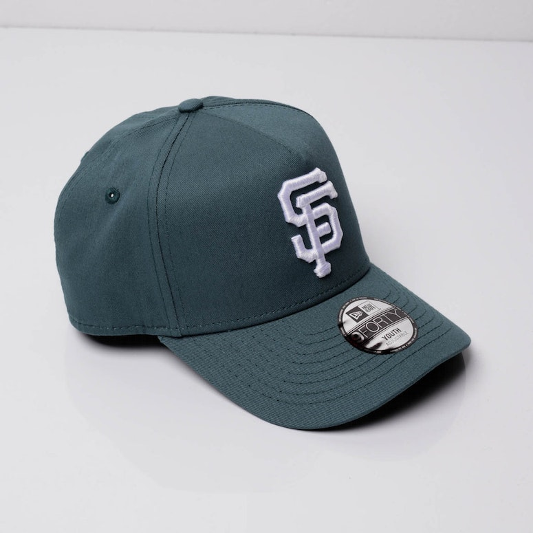 New Era Youth San Francisco Giants 9FORTY A-Frame Snapback Blue Spruce