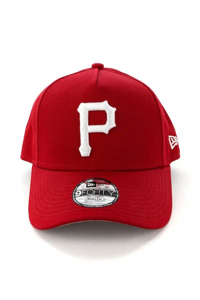 timeless design 69840 bbf9f New Era Youth Pittsburgh Pirates CK 9FORTY A-Frame Snapback Scarlet Grey ...