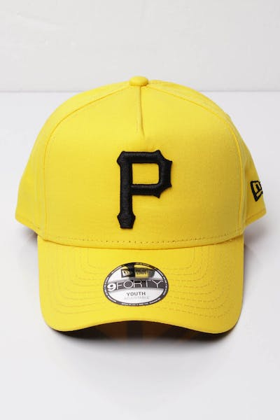 9e2a23faccfad New Era Youth Pittsburgh Pirates 9FORTY A-Frame Snapback Yellow Black