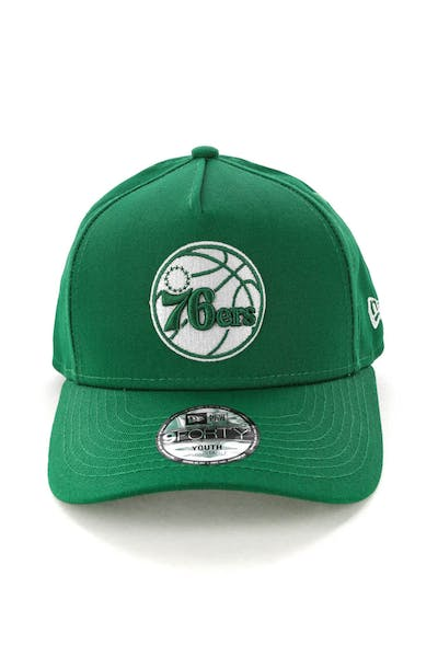 New Era Youth Philadelphia 76ers 9FORTY A-Frame Snapback Emerald Green