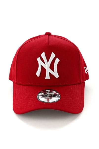 New Era Youth New York Yankees CK 9FORTY A-Frame Snapback Scarlet/Grey