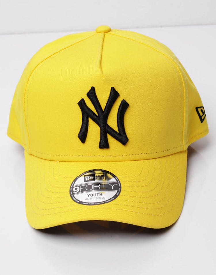 0c7fb90c New Era Youth New York Yankees 9FORTY A-Frame Snapback Yellow/Black