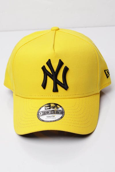 best website c5fc7 cf951 New Era Youth New York Yankees 9FORTY A-Frame Snapback Yellow Black ...