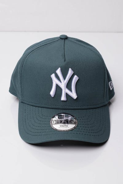 new arrivals 57aae 209bb New Era Youth New York Yankees 9FORTY A-Frame Snapback Blue Spruce ...