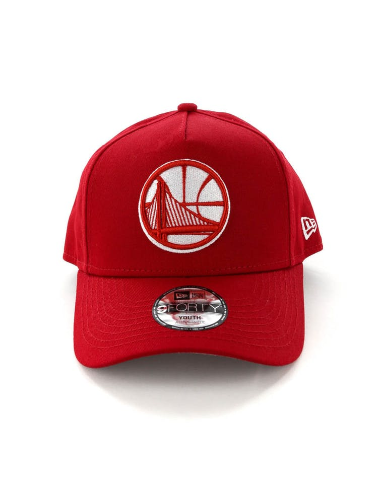 ee19b635b1dc89 New Era Youth Golden State Warriors CK 9FORTY A-Frame Snapback Scarlet –  Culture Kings