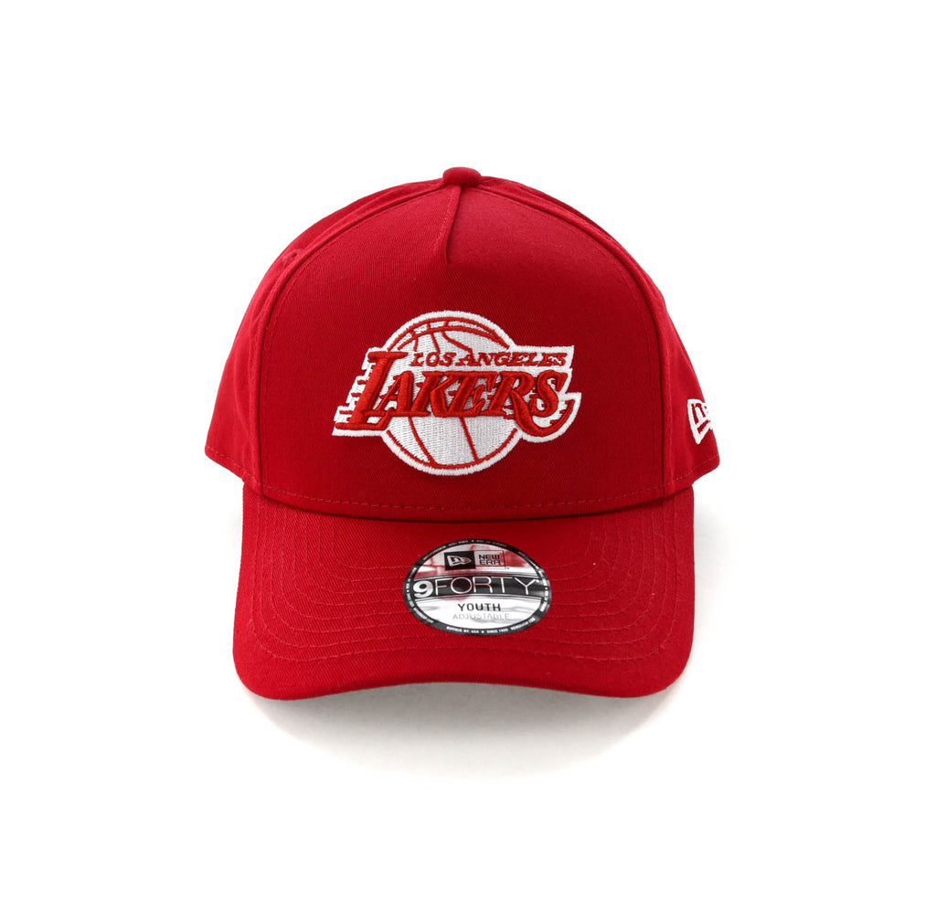 sports shoes 6250f d79fb ... australia new era youth los angeles lakers ck 9forty a frame snapback  scarlet grey 8726f 44d84