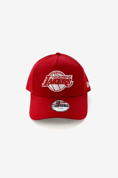 9142f49069c New Era Youth Los Angeles Lakers CK 9FORTY A-Frame Snapback Scarlet Grey