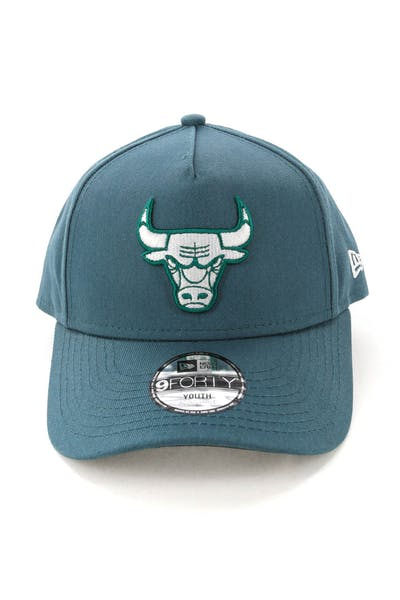 New Era Youth Chicago Bulls CK 9FORTY A-Frame Snapback Blue Spruce