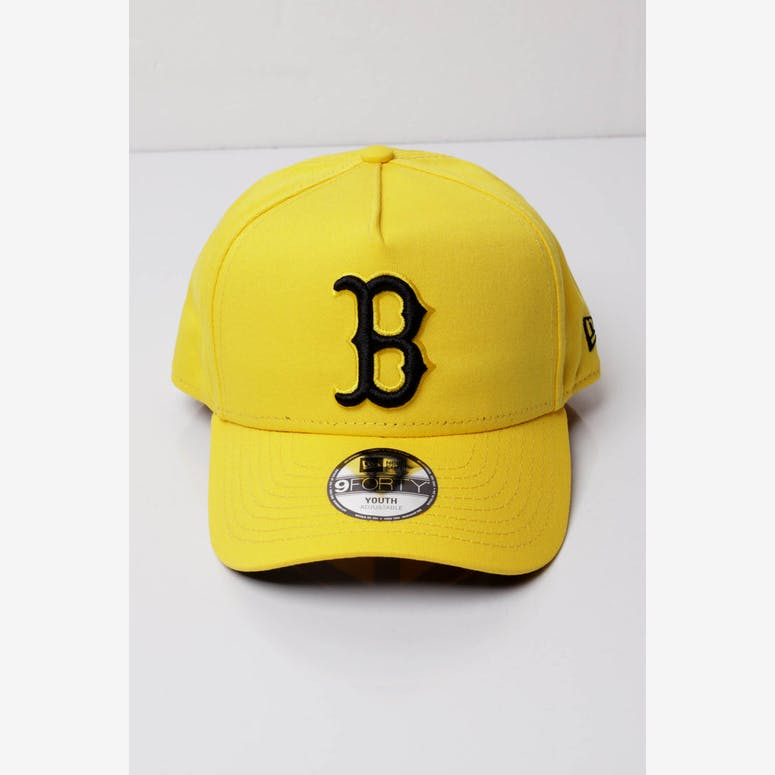 New Era Youth Boston Red Sox 9FORTY A-Frame Snapback Yellow Black – Culture  Kings 0c4f8fb066fb