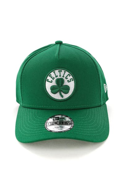 2ae25eb46ab8a New Era Youth Boston Celtics 9FORTY A-Frame Snapback Emerald Green