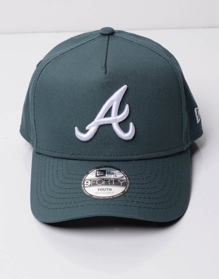 buy popular 48cae e1688 New Era Youth Atlanta Braves 9FORTY A-Frame Snapback Blue Spruce – Culture  Kings