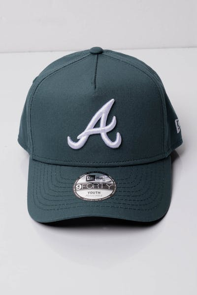 New Era Youth Atlanta Braves 9FORTY A-Frame Snapback Blue Spruce b1d4261f8