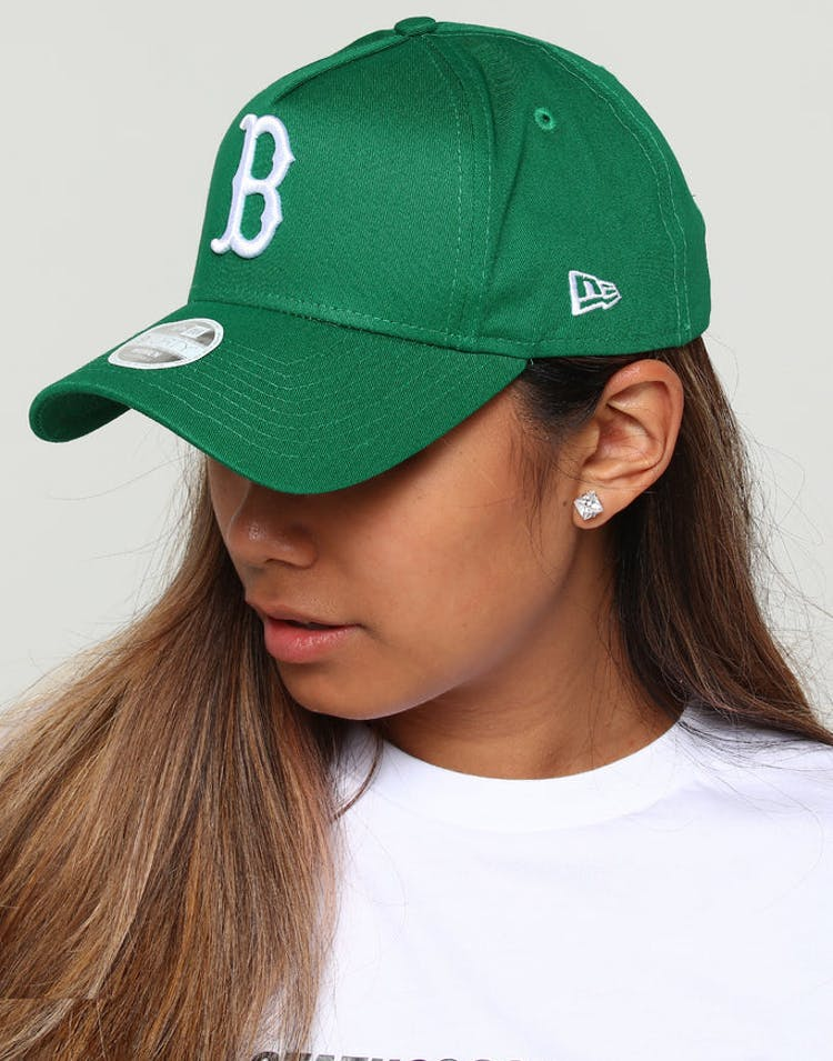wholesale dealer 10f6d d4be5 New Era Women s Boston Red Sox CK 9FORTY A-Frame Strapback Emerald Green