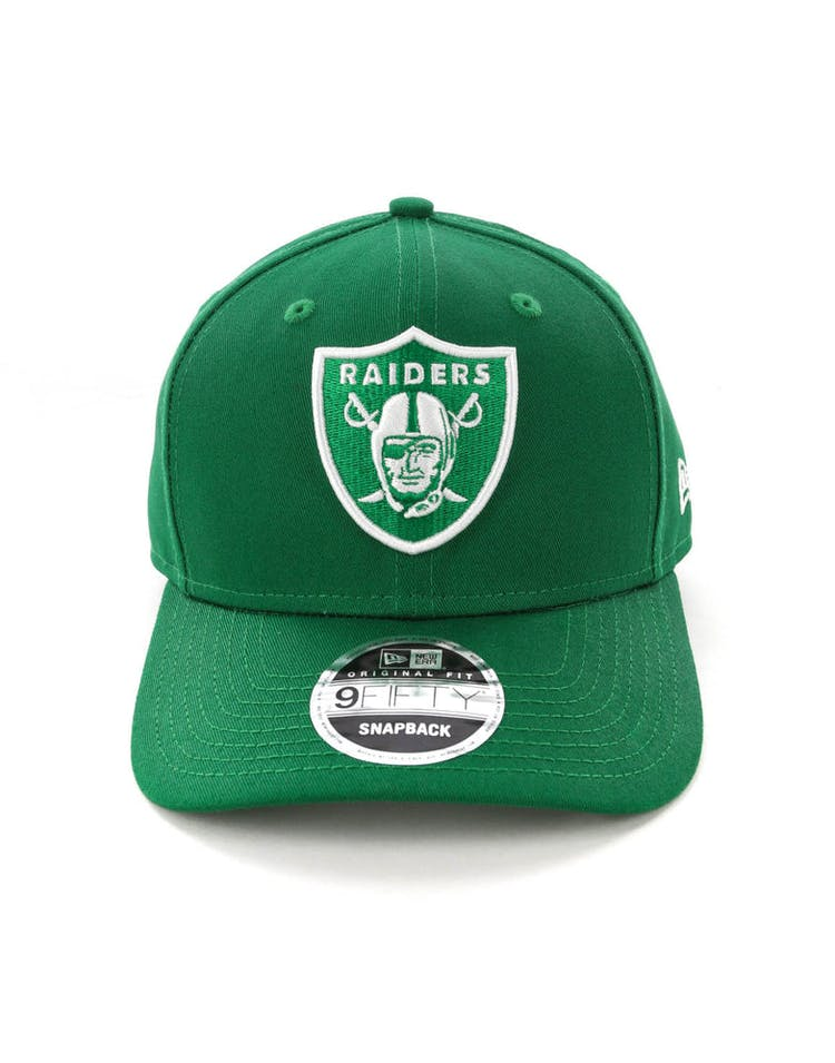 pretty nice 1593a 6affe New Era Raiders 9FIFTY Original Fit Precurved Snapback Emerald Green