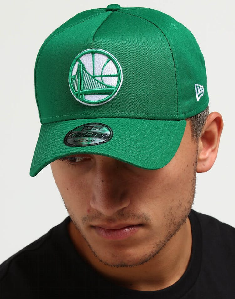 cheap for discount 733f7 3c39a New Era Golden State Warriors CK 9FORTY A-Frame Snapback Emerald Green