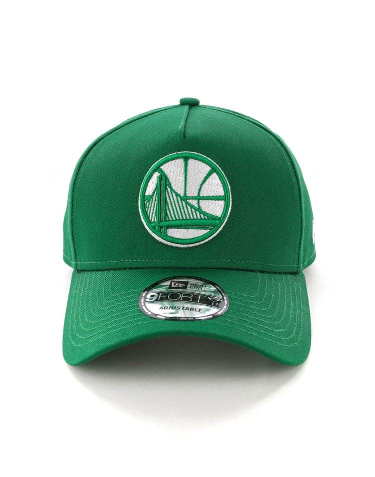 31dbb77ec4290e New Era Golden State Warriors CK 9FORTY A-Frame Snapback Emerald Green