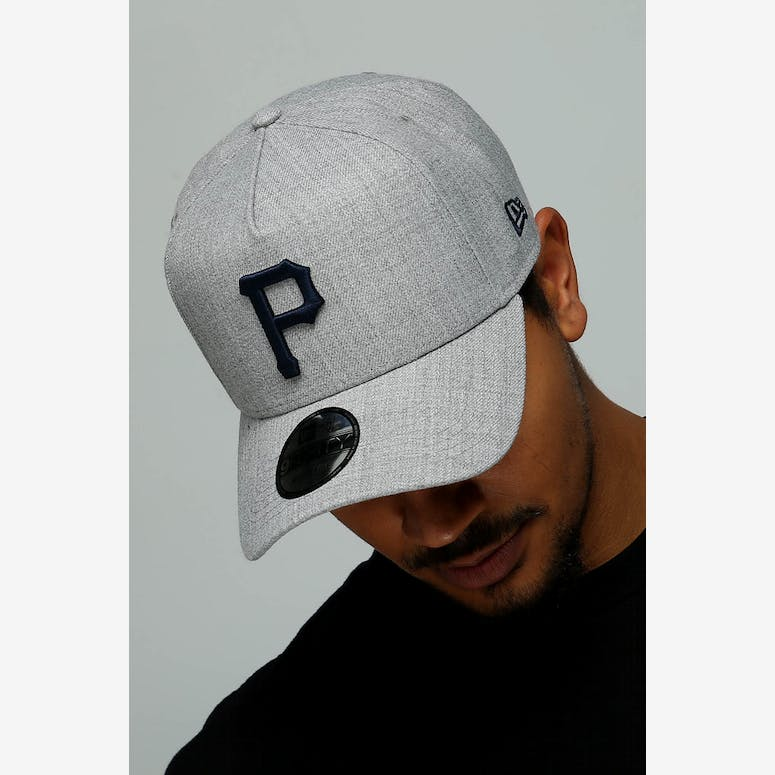 3002ea7b700 New Era Pittsburgh Pirates 9FORTY A-Frame Snapback Heather Grey Navy – Culture  Kings