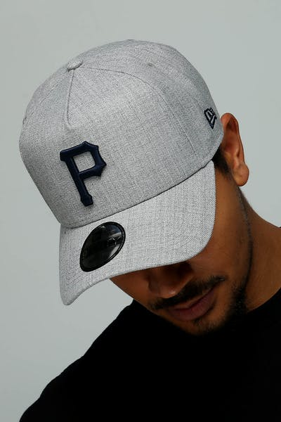 New Era Pittsburgh Pirates 9FORTY A-Frame Snapback Heather Grey/Navy