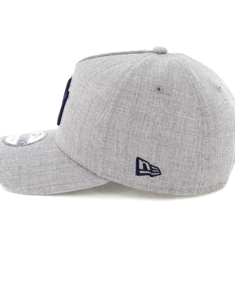 0472a63e06955 New Era New York Yankees 9FORTY A-Frame Snapback Heather Grey Navy –  Culture Kings