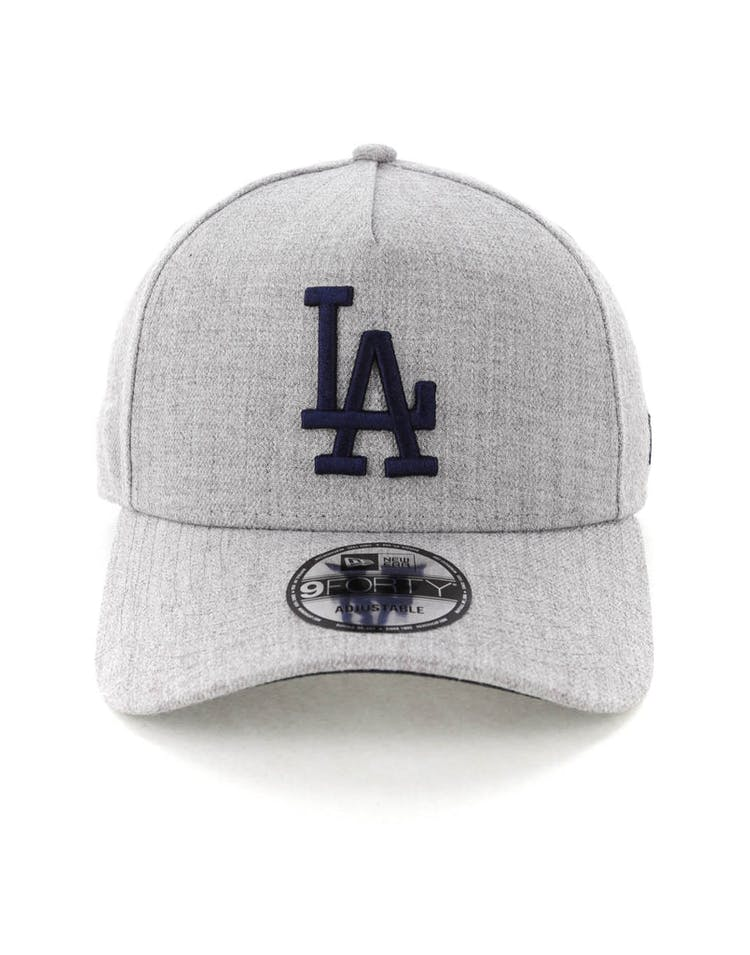 brand new 051ca d0076 New Era Los Angeles Dodgers 9FORTY A-Frame Snapback Heather Grey Navy
