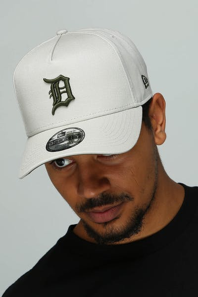 online retailer 6713f 32246 New Era Detroit Tigers 9FORTY A-Frame Snapback Stone Olive