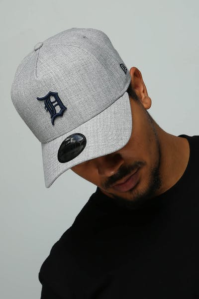 382e0bad New Era Detroit Tigers 9FORTY A-Frame Snapback Heather Grey/Navy ...