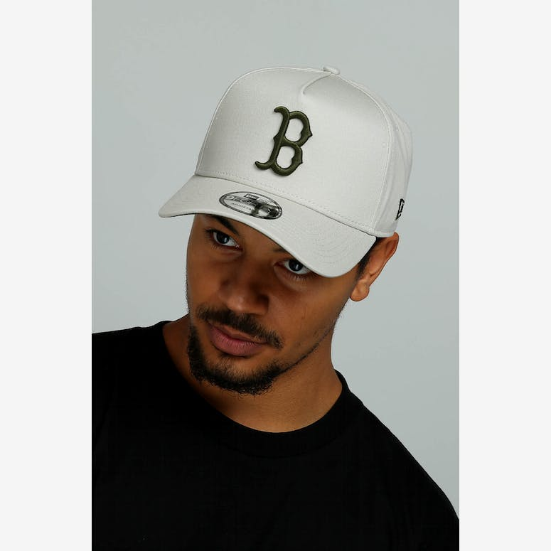 605548cab4e New Era Boston Red Sox 9FORTY A-Frame Snapback Stone Olive – Culture Kings