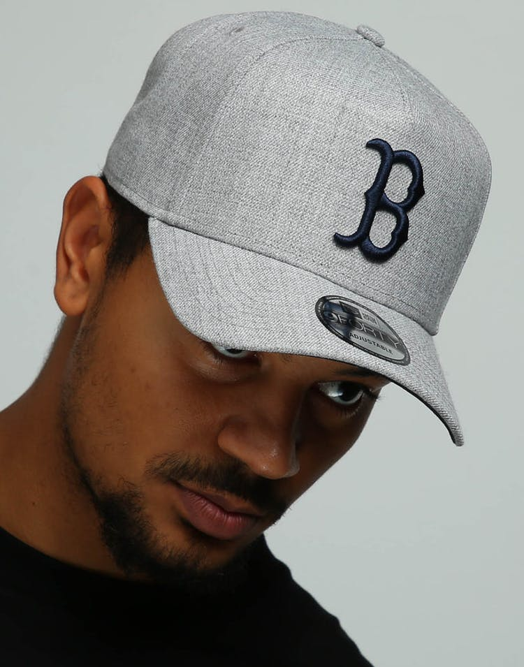 brand new 074a5 531bd New Era Boston Red Sox 9FORTY A-Frame Snapback Heather Grey Navy – Culture  Kings
