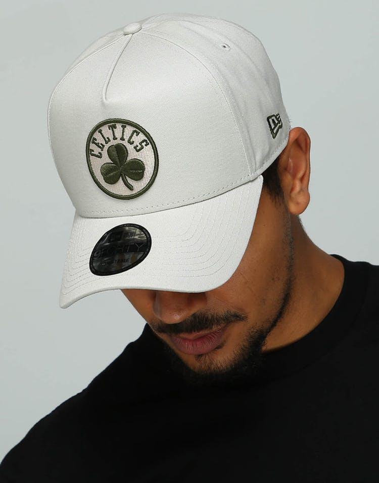 reputable site 48b62 2fa2f New Era Boston Celtics 9FORTY A-Frame Snapback Stone Olive – Culture Kings
