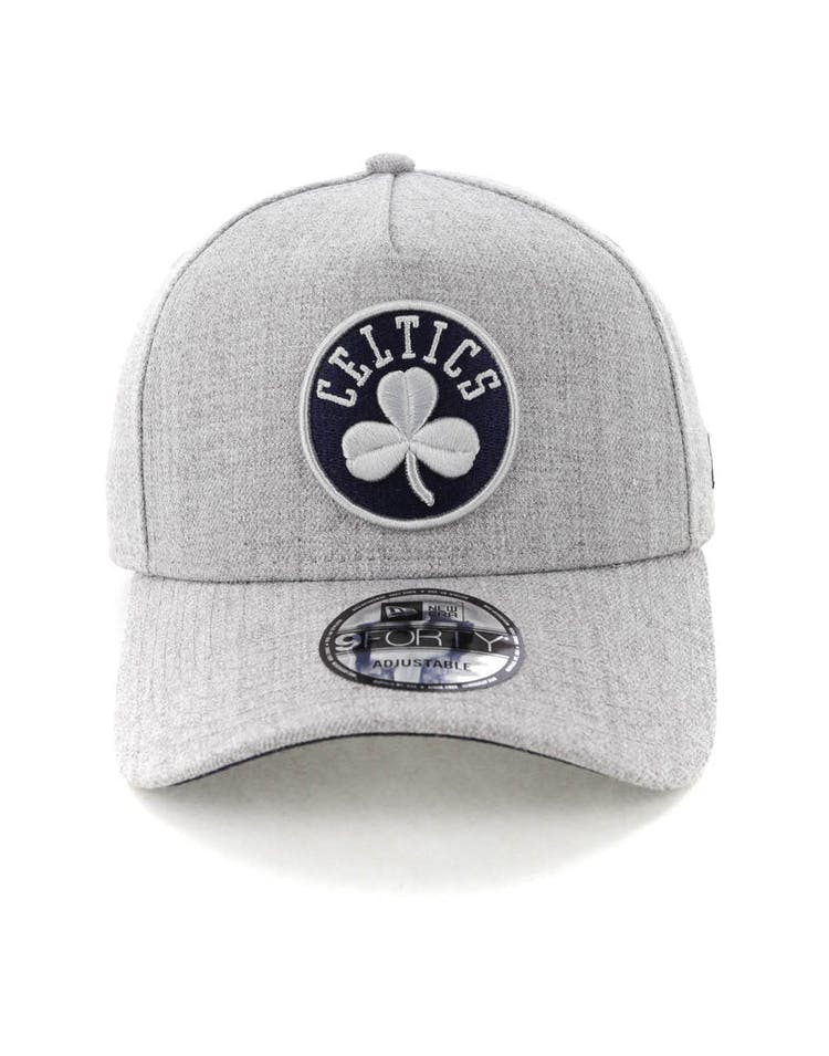 the best attitude 19bf1 69ec9 New Era Boston Celtics 9FORTY A-Frame Snapback Heather Grey Navy