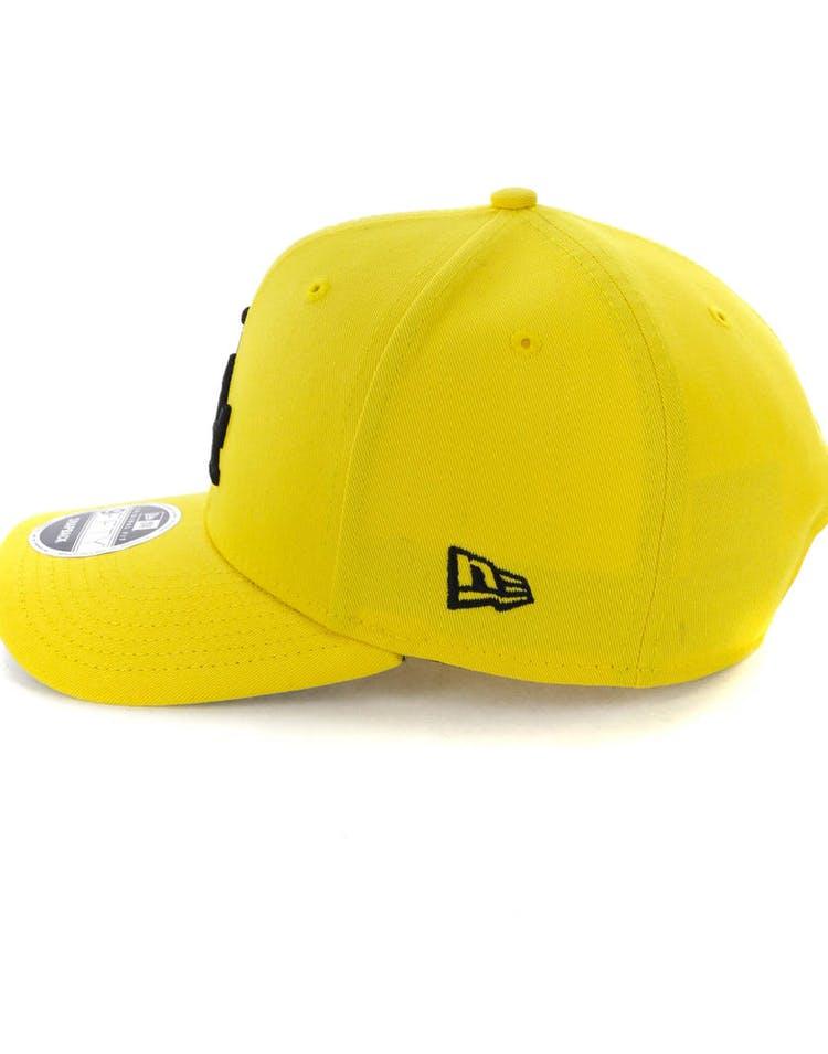hot sale online 58ca1 276e6 New Era Los Angeles Dodgers 9FIFTY Original Fit Precurved Snapback Yellow  Black