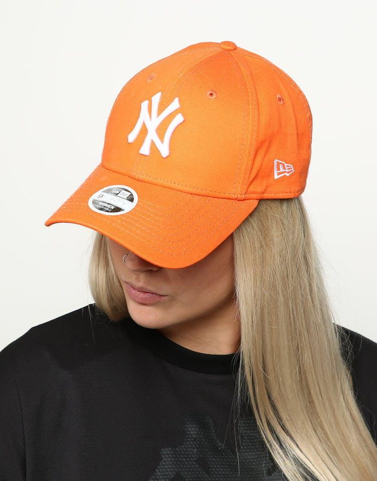promo code 68473 98db9 New Era Women s New York Yankees 9FORTY Cloth Buckle Strapback Orange