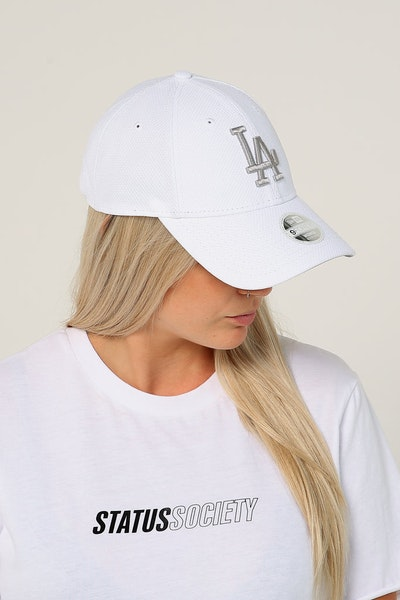 New Era Women's Los Angeles Dodgers 9FORTY Cloth Strapback White