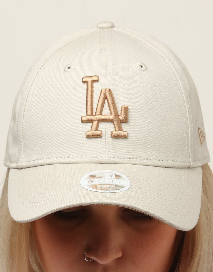 new arrival bdd56 57667 New Era Women s Los Angeles Dodgers 9FORTY Cloth Buckle Strapback Stone
