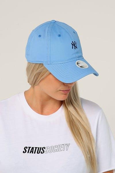 New Era Women s New York Yankees 9TWENTY Cloth Strapback Sky Blue e92f4cc6e63