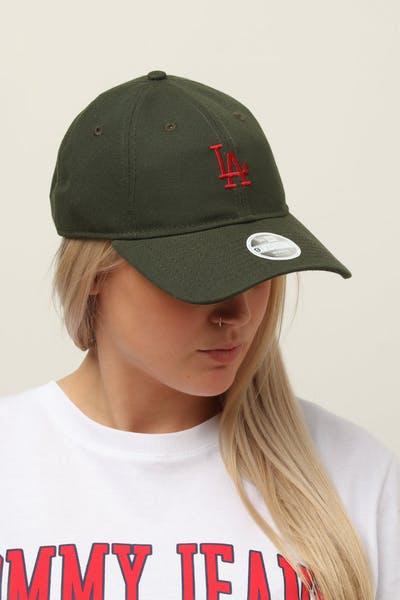 promo code 1e180 c0a6b New Era Women s Los Angeles Dodgers 9TWENTY Cloth Buckle Strapback Dark  Green