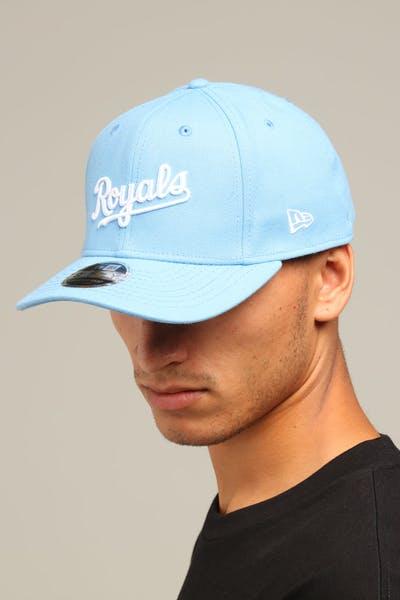 new concept 51d01 45c15 New Era Kansas City Royals 9FIFTY Stretch Snapback Sky Blue