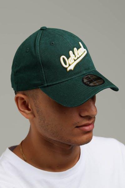 5fbc0216cd1 New Era Oakland Athletics Coop 9FORTY Cloth Buckle Strapback Dark Green