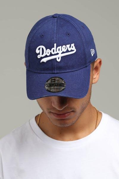 buy popular 9ec38 a4fa8 New Era Los Angeles Dodgers Coop 9FORTY Cloth Buckle Strapback Dark Blue
