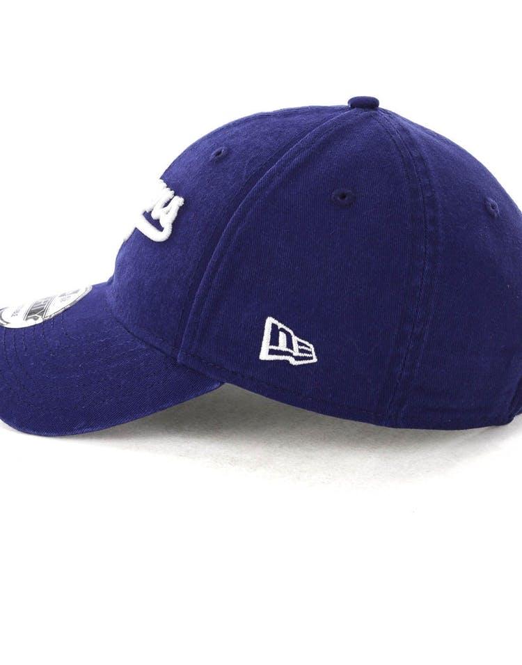 buy popular 6ee0b 2316e New Era Los Angeles Dodgers Coop 9FORTY Cloth Buckle Strapback Dark Blue