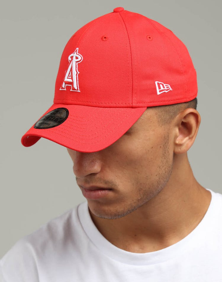 size 40 93029 9a199 New Era Los Angeles Angels 9FORTY Cloth Buckle Strapback Red – Culture Kings