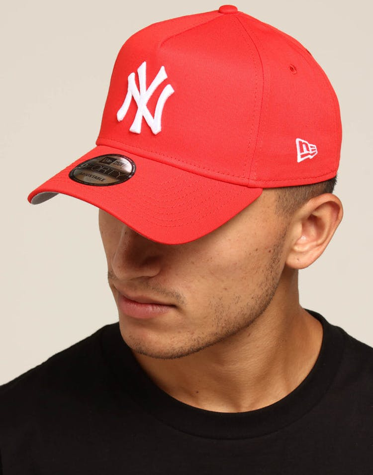 91766b9dfa9 New Era New York Yankees 9FORTY A-Frame Snapback Red – Culture Kings