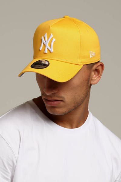 New Era New York Yankees 9FORTY A-Frame Snapback Gold 9e3519a91a7d