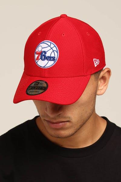 reputable site 3d3a5 0ea18 New Era Philadelphia 76ers 9FORTY Hook N Loop Scarlet ...